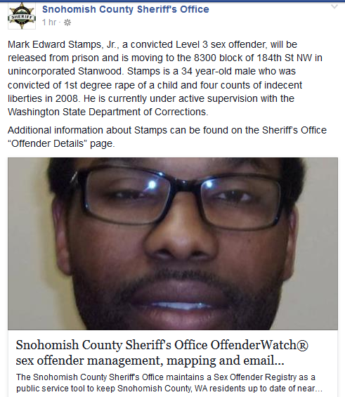 county offender sex snohomish