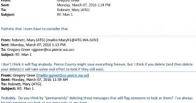 Washington Attorney General Advising County Employee to Commit a Felony